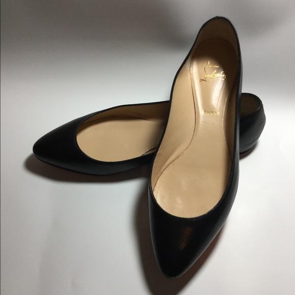 check out 77e01 d443a Christian Louboutin Black Flat (Eloise) Size 41